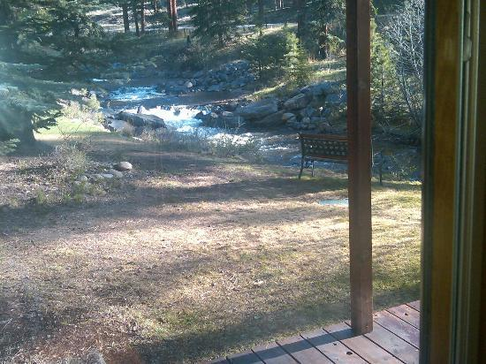 Boulder Brook on Fall River: view from our deck