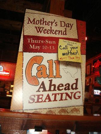 Texas Roadhouse: Mother's day advert