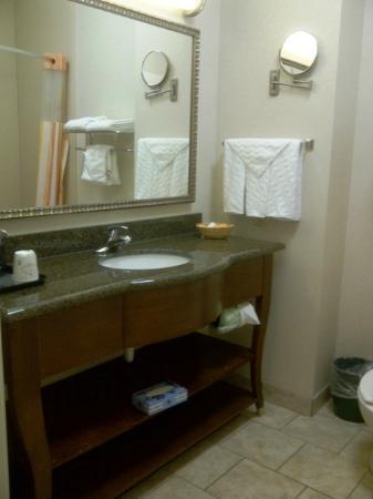 La Quinta Inn & Suites Gainesville: LaQuintaGainsvilleKingSuiteBathroom