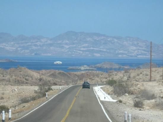Vista al llegar a Bahia de los Angeles
