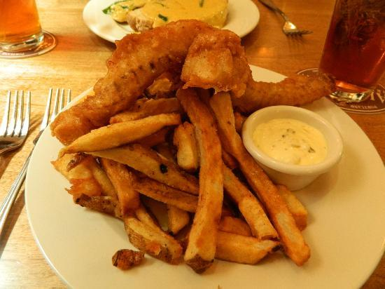 The Celtic Fringe: A huge plate of fish and chips