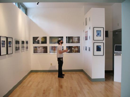 The Project Space Gallery at 93 Mathewson St a street level space in AS220's Dreyfus Building