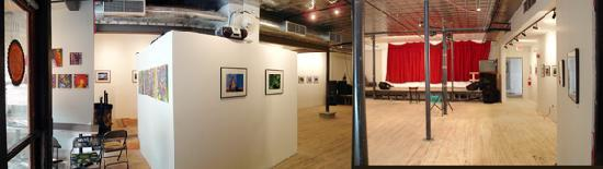 The AS220 Performance Space and Main Gallery on the ground floor of 115 Empire Street