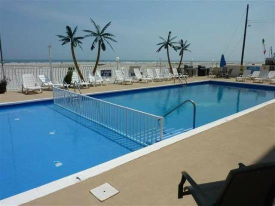 Madrid Oceanfront Condominiums: View from first-floor poolside-oceanfront unit