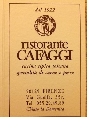 Cafaggi: Superior eating a reasonable prices