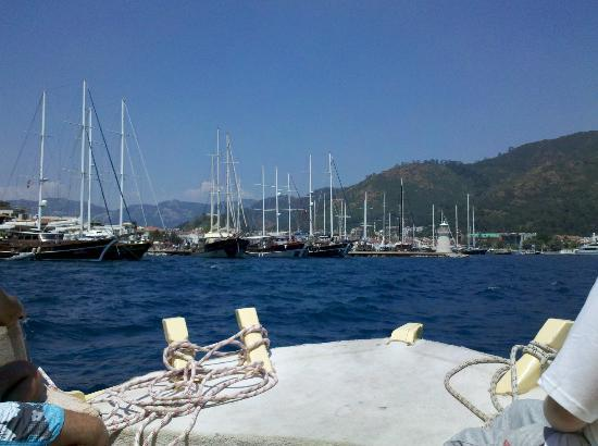 Flamingo Hotel: Marmaris Harbour from the water taxi