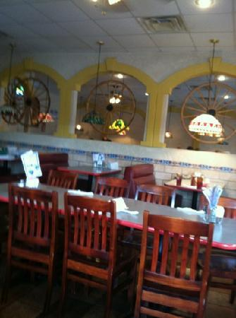 Cancun Mexican Restaurant I40: inside decor