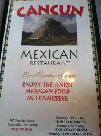 Cancun Mexican Restaurant I40: finest?