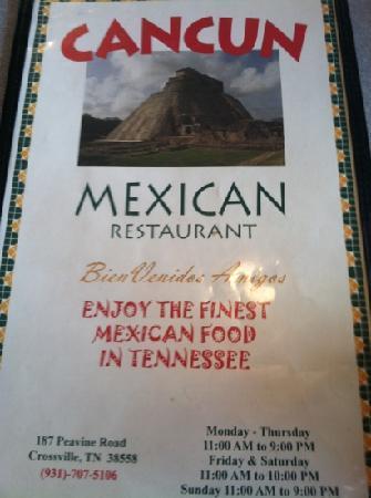 Cancun Mexican Restaurant I40 : finest?