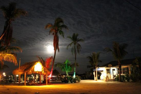 Jensen's Twin Palm Cottages and Marina: A late night welcome to Jensen's Twin Palm Resort and Marina...