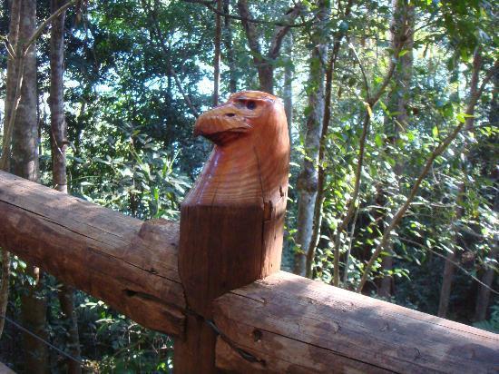 Secrets on the Lake: Sculpture on walkway