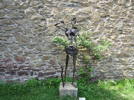 Helfstyn Castle: One of many sculptures