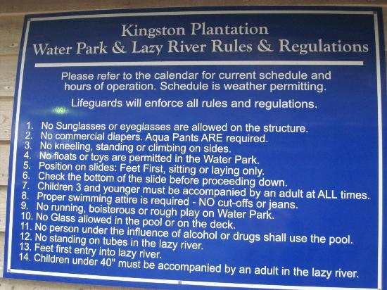 Park and pool rules picture of embassy suites by hilton - Virginia swimming pool regulations ...