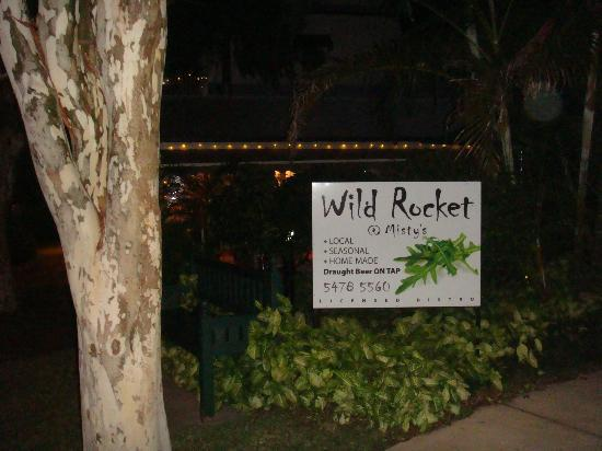 Wild Rocket at Misty's Micro Brewery: Restaurant signage