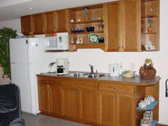 Tuckers Inn B&B and Spa: A modern kitchenette with fridge and microwave makes it easy to fix snacks.