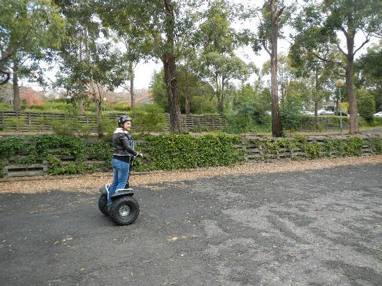 Segway Tours Blue Mountains: Learning to drive a segway