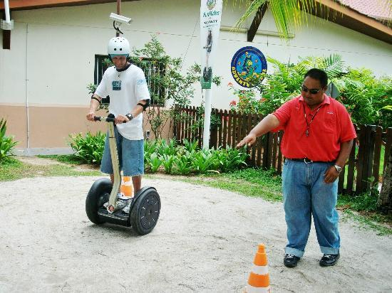 Segway outside Adventure Zone