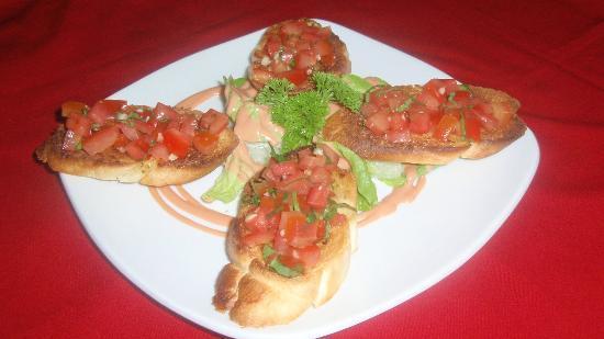 Rib Restaurant: bruschetta