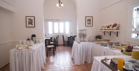 Villa Ilias Caldera Hotel : Buffet breakfast