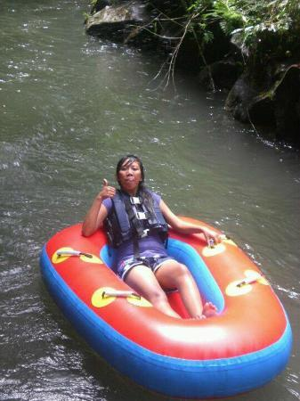 Bali River Tubing: at lazy river,, after  7 rapids through