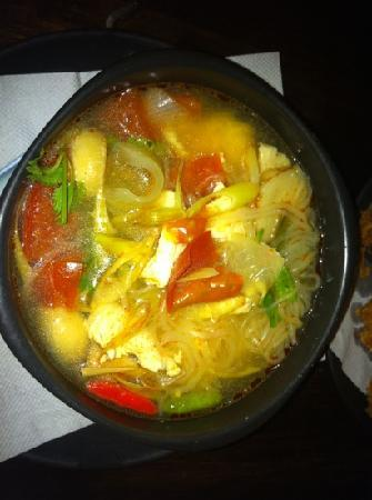 Coco Garden Resort: Tom yum with noodles frm Coco's kitchen