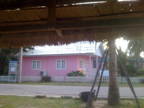 Banito Beach Resort : my little pink beach bungalow.... taken whilst sitting on the beach