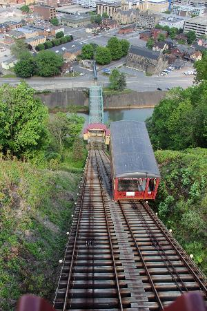 Johnstown Inclined Plane: The Incline Plane cars can carry people, bicycles or even cars
