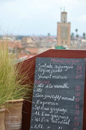 Maison de la Photographie de Marrakech : Menu
