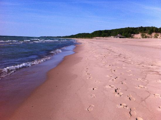 "Bridgman, MI: Shuffle your feet along the beach and hear the ""singing sands"""