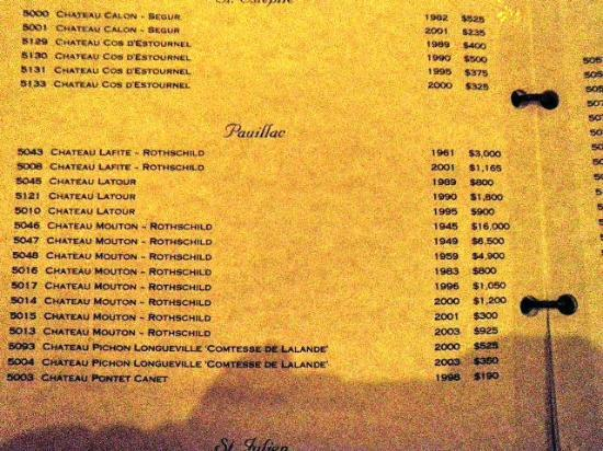 Vic & Anthony's Steakhouse: $16,000 bottle of wine!