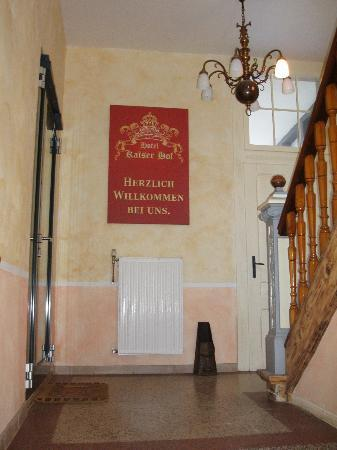 Hotel Kaiser Hof: inside of main entrance