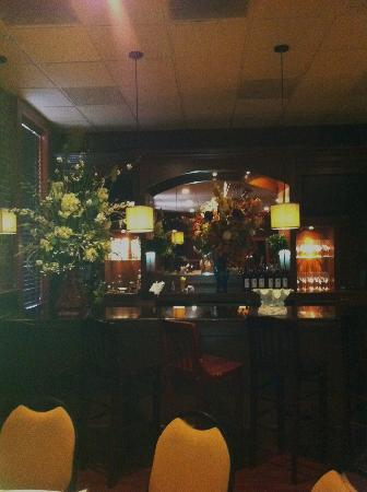 Blue Marlin: Private bar area with floral arrangements