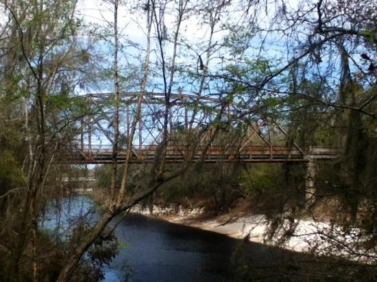 Suwannee River State Park: abandoned bridge