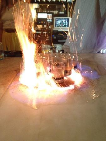 Copper and Vine: flaming shots