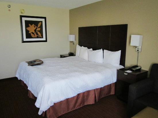 Hampton Inn Chicago Naperville: our king bed