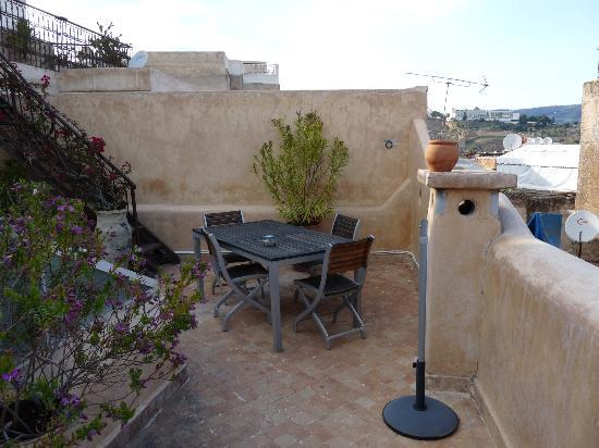 Riad Boujloud: Une partie de la terrasse