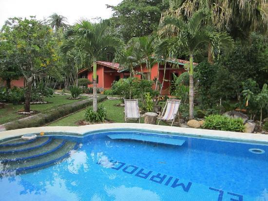 Finca El Mirador: pool and bungalows
