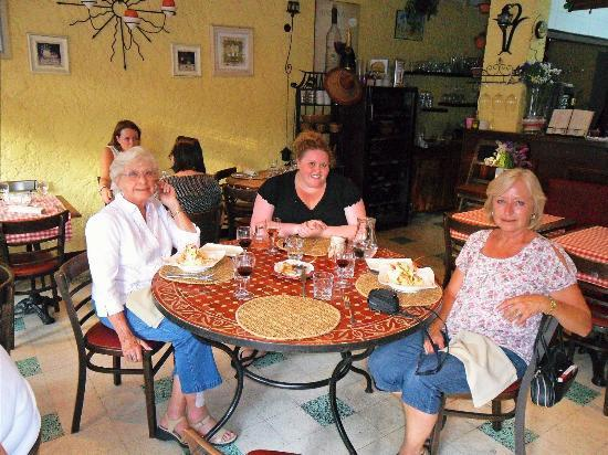 Le Coup D'Fourchette : Our family inside the restaurant... there is seating outside as well