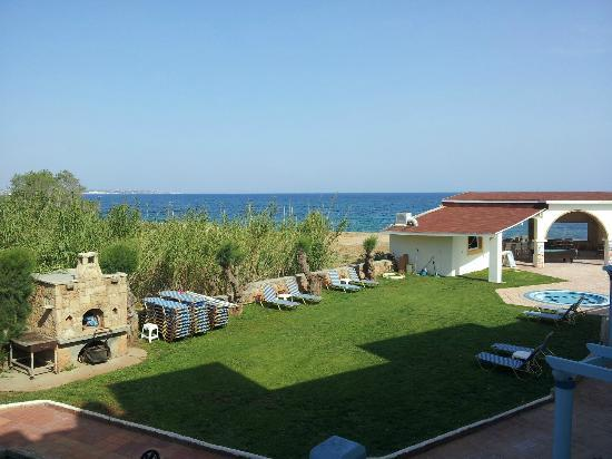 Pyrgos Beach Hotel: The view from our room of hotel grounds