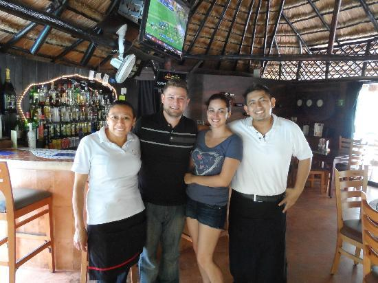 Mayan Bistro: Pic with the staff on our last day in Playa