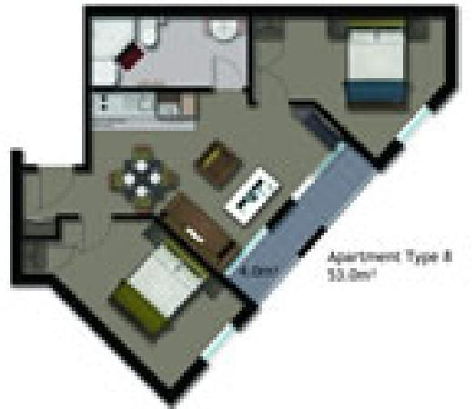 Waldorf St. Martins Apartment Hotel : 2 bedroom apartment hotel