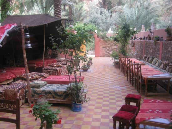Maison d'hotes Anissa: Back garden of the Hotel!