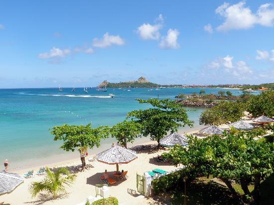 Pigeon Island as seen from Bay Gardens Beach Resort Picture of