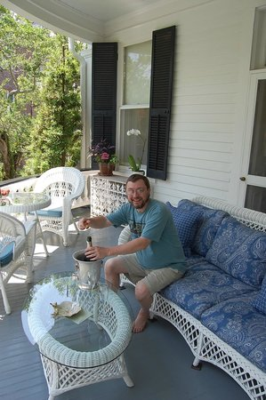 Two Meeting Street Inn: The veranda of our room