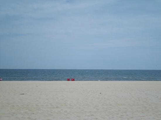 Howard Johnson Inn Ocean City Oceanfront: Love the view of beach & ocean from in front of hotel