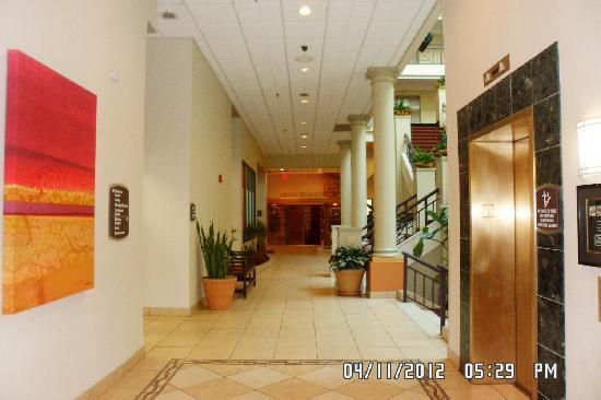Embassy Suites by Hilton Charlotte: Hallway to steakhouse