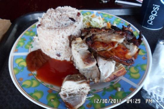 Jerky's Bar & Grill: Rice & Peas with Jerk Chicken