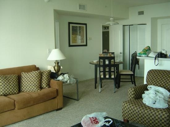 Residences at Intracoastal Yacht Club: living/dining room