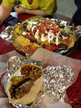 nachos and burritos @ Wyatt's