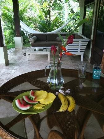 Playa Cielo: fresh fruit everyday